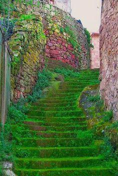 Esta escadaria é tão linda que não resisti em adicionar. Sardenha, Itália.