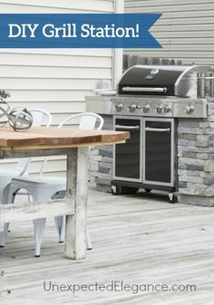 Now that the weather is warming up, this DIY Grill Station is the ultimate weekend craft! This advanced project is worth the effort.