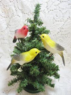 Vintage Bird Ornaments @ Vintage Touch $6.50