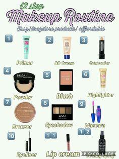 Makeup Brush Uses, Makeup 101, Makeup Guide, Skin Makeup, Makeup Basics, Basic Makeup Kit, Beauty Makeup, Blonde Makeup, Face Beauty