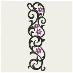 Wind Bell Embroidery Embroidery Design: Vertical Wrought Iron 3.82 inches H x 1.04 inches W