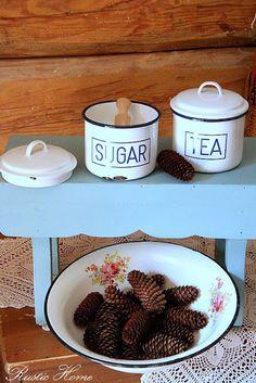 . Enamel Ware, White Enamel, Dog Bowls, Rustic, Antiques, Vintage, Country Primitive, Antiquities, Antique