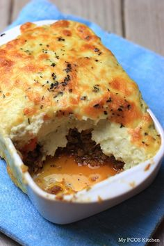 A delicious take on the traditional Shepherd's pie. This Low Carb Shepherd's pie is made with mashed cauliflower instead of potatoes and is gluten-free.