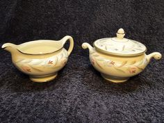 Homer Laughlin Eggshell Nautilus Nantucket Creamer and Sugar Bowl in Pottery & Glass, Pottery & China, China & Dinnerware | eBay