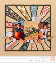 Autumn by Lisa Dickinson featuring the Persimmon Collection from BasicGrey - Scrapbook.com