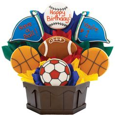 Send your favorite sports lover a delicious birthday gift.