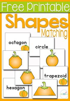 This is a Free Printable Pumpkin Shape Matching Game! This fun pumpkin themed printable for learning shapes is great for Fall. Use pumpkins to get your kid into learning their shapes. Try this fun shape learning printable today! Fun Math Activities, Autumn Activities For Kids, Fall Preschool, Preschool Learning, Halloween Activities, Preschool Shapes, Montessori Preschool, Preschool Education, Preschool Kindergarten