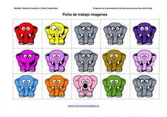 Programa de entrenamiento de intrucciones escritas Los elefantes de Colores | Orientacion AndujarOrientacion Andujar