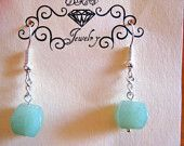 Green Aventurine Quartz Earrings...$13