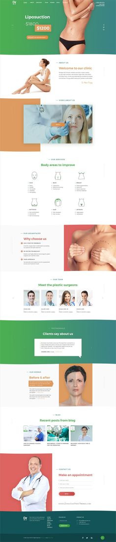 Dr. Plastic surgery is clean and modern design #PSD template for plastic #surgeon and #medical clinics website download now > https://themeforest.net/item/dr-plastic-surgery-psd-template/19949642?ref=Datasata