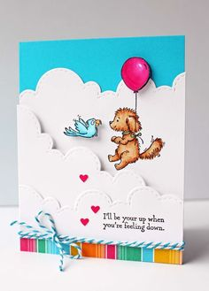 Stampin Up Kitchen Table Stamper Bella and Friends, Festive Birthday DSP, Cookie Cutter Builder Punch (cookie cutters stampin up) Birthday Greetings For Kids, Handmade Birthday Cards, Greeting Cards Handmade, Dog Cards, Kids Cards, Scrapbooking, Scrapbook Cards, Stampin Up, Pet Sympathy Cards