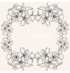 Free Vector | Floral frame vector 1451884 - by Chantall on VectorStock®