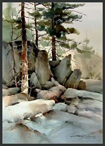 Somewhere in the Rockies by sterling edwards Watercolor ~ 30 x 22 #LandscapingWatercolor