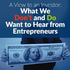 Startup Funding - An investors view point. Learn what Angel Investors and VCs want to hear when getting pitched by entrepreneurs. As well learn what not to say