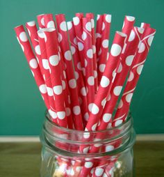 25 Paper Straws Striped and Polka Dot Parties Weddings Showers Many Colors | eBay