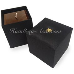 Black Thai Silk Box To Pack Incense Candles