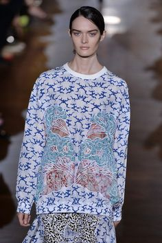 wgsn:  Clashing prints and peep through details seen at stellamccartney​ #SS15. #PFW