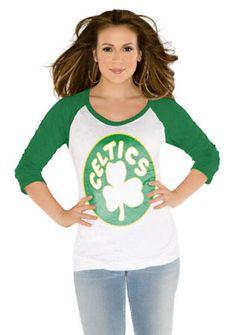 141483adc NBA Women s Over The Top Raglan Burnout 3 4 Sleeve T-Shirts  44.99 -.  Celtics ApparelCeltics GearTouch By Alyssa MilanoDaily ...