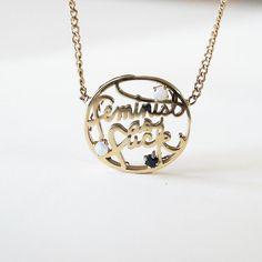 Feminist as F*ck FINE necklace