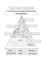 english worksheet food pyramid