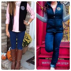 It's a Monogramed Vest-Off. Which is your favorite - Fleece or Puffy?