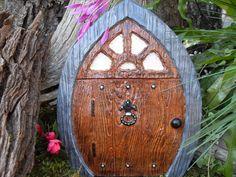 Fairy Door Extra Large Gnome Door Medieval by LaurelsFairyDoors