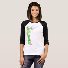 """Terrible Tim"" women's 3/4 sleeve raglan t-shirt  $29.95  by TerribleTim68  - cyo diy customize personalize unique"
