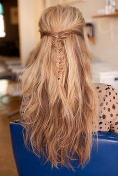 I love fishtail hairstyles
