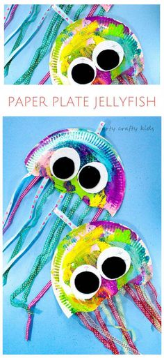 Paper Plate Jellyfish Craft Arty Crafty Kids & Craft & Paper Plate Jellyfish Craft & Easy Jellyfish craft for kids & perfect for an under the sea theme at school or preschool! The post Paper Plate Jellyfish Craft appeared first on Best Pins. Paper Plate Crafts For Kids, Summer Crafts For Kids, Art For Kids, Paper Plate Art, Spring Crafts, Toddler Paper Crafts, Summer Crafts For Preschoolers, Paper Plate Masks, Painting Crafts For Kids
