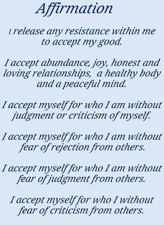 Self Affirmations Worksheets Also Positive Affirmations Self Esteem ...