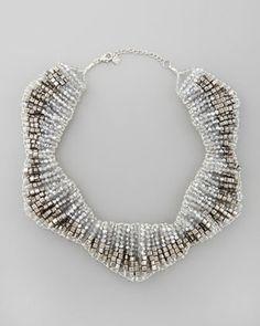Nakamol - Hexagonal Beaded Bib Necklace
