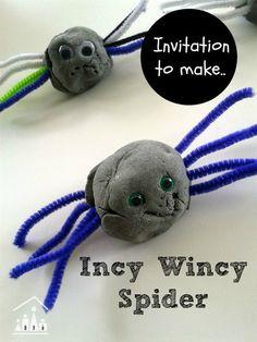 Invitation to make.Incy Wincy Spider - Crafty Kids at Home Nursery Rhymes Preschool, Nursery Rhyme Theme, Preschool Arts And Crafts, Preschool Activities, Incy Wincy Spider Activities, Fall Preschool, Kid Crafts, The Very Busy Spider, Montessori