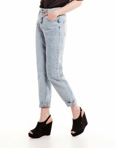 Bershka España - Jeans Bershka tiro alto vintage
