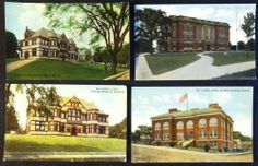 Early Postcard Lot - 4 Views of New London Conn. CT Hugh C. Leighton Co. Unused!