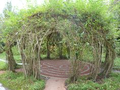 Living Willow walk with labrynth p1000562.jpg 4320×3240 pixels