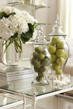 Apples in glass containers - COLLECTION - accessories - ceramics / vases / planters - Eichholtz