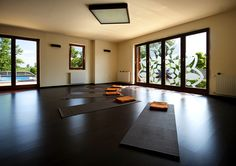 Mandala yoga room in Hullam Villa. Book your next retreat for your group!