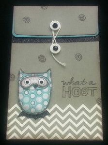 """Creating with Inky Paw: August Blog Hop """"What a Hoot"""" #DesignerCreationsButtonedBag #ChalkItUp"""
