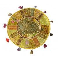 22 inches Yellow Indian Meditation Decorative pillows, Boho gypsy pillows, Dorm Pillow, Room Decor, Home Decor