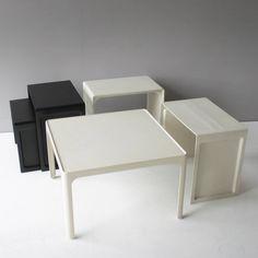 Dieter Rams; Fiberglass Reinforced Polyester Tables for Vitsœ+Zapf, c1965.