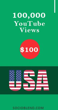 Get 100,000 Youtube views for just $100. #Increase #YouTube #Views #USA #BuyYoutubeViews