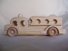 Toy Fire Engine Handcrafted from Reclaimed Wood by Tigerseyecrafts, $20.00