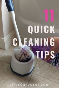 [11 Tips] Quick Cleaning - Fast cleaning tips for busy people. Learn how you can keep your home clean in just minutes a day. Your cleaning routine or schedule will change after reading these cleaning hacks!