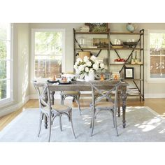 angelo:HOME Hillgate 5 Piece Dining Set in Antique Burnt Oak - Overstock Shopping - Big Discounts on ANGELOHOME Dining Sets