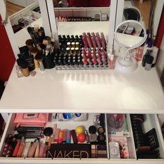 vanity table, make up