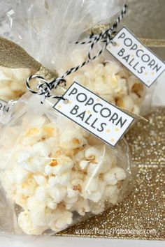A Popcorn Party for the Oscars by PartyPatisserie.com with free printables