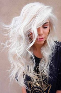 Trendy Hair Color Picture Description White blonde hair is the dream of many women disregarding the age. And there is no wonder why, just one look at these stunning blonde beauties makes you crave