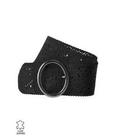Ceinture femme en cuir - Gris - Accessoires - Femme - Promod acac313da64