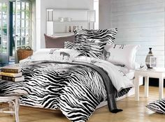 Ywxuege Black&white Stripe Zebra Bedding Set 100%cotton,queen King Size Bedsheet/duvet/2017 Cover Sets Linens Free Shipping