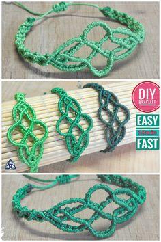 Macrame Wavy Bracelet DIY | EASY Bracelet MAKING #macrame #macramebracelet #Tutorial #jewelry #Greenbracelet #handmade #MacrameMagicKnots #bracelet #Wavybracelet #craft #diy #howto #tutorial #crafty #idea #gift #menbracelet #youtube #Bijoux